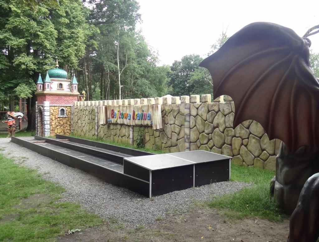 Mur z wizytówką Bajkowej Krainy